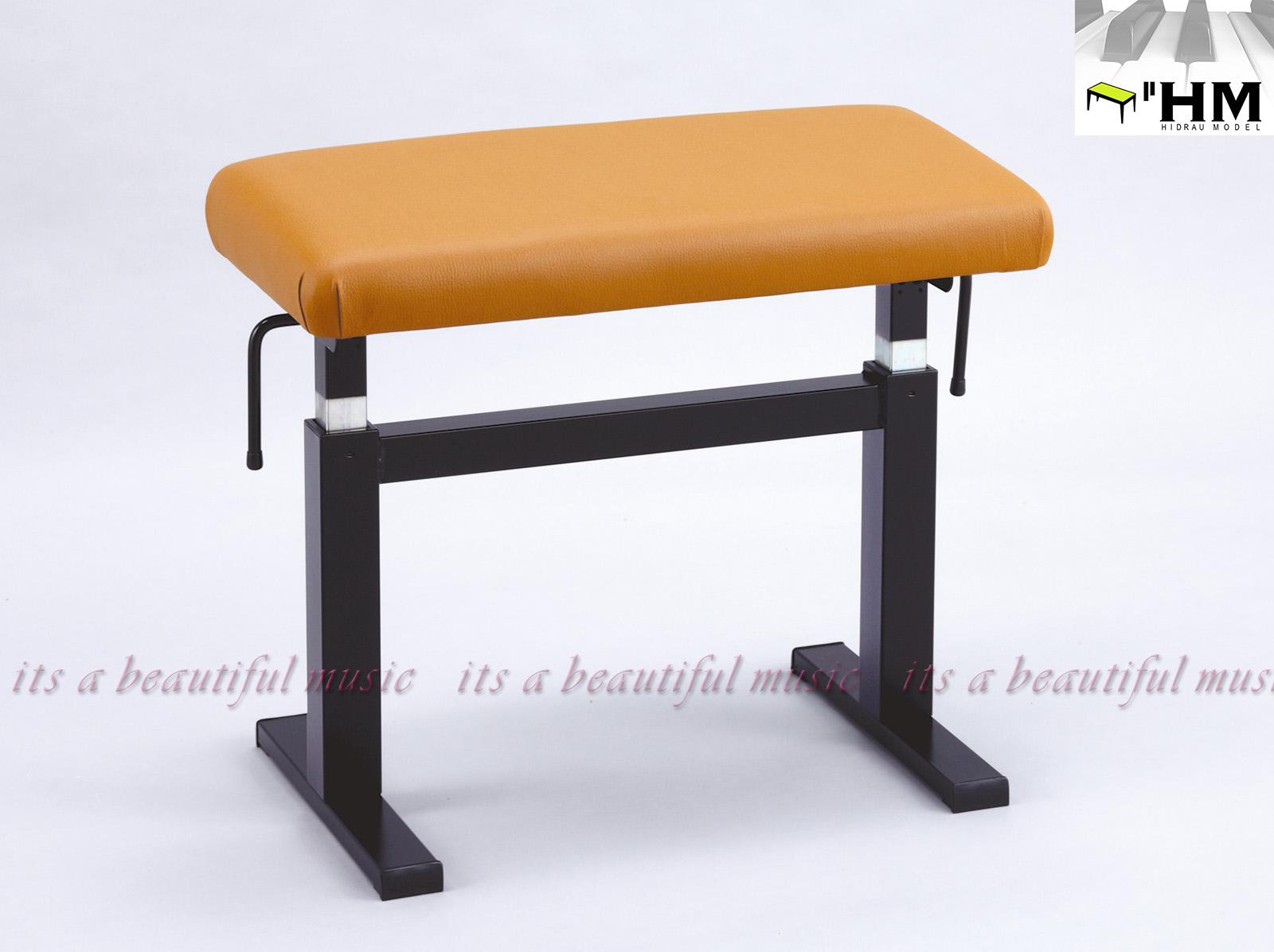 【its】スペイン/HIDRAU社 ガススプリング式高級輸入ピアノ椅子 BM-44H(ブラウン座面)