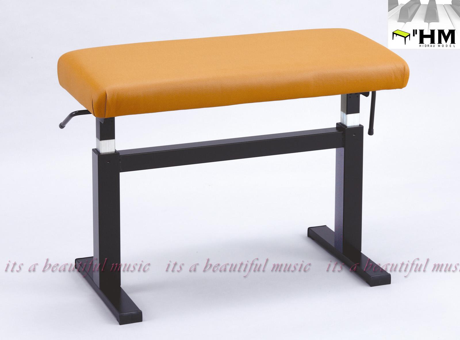 【its】スペイン/HIDRAU社 ガススプリング式高級輸入ピアノ椅子 BM-45H(ブラウン座面)