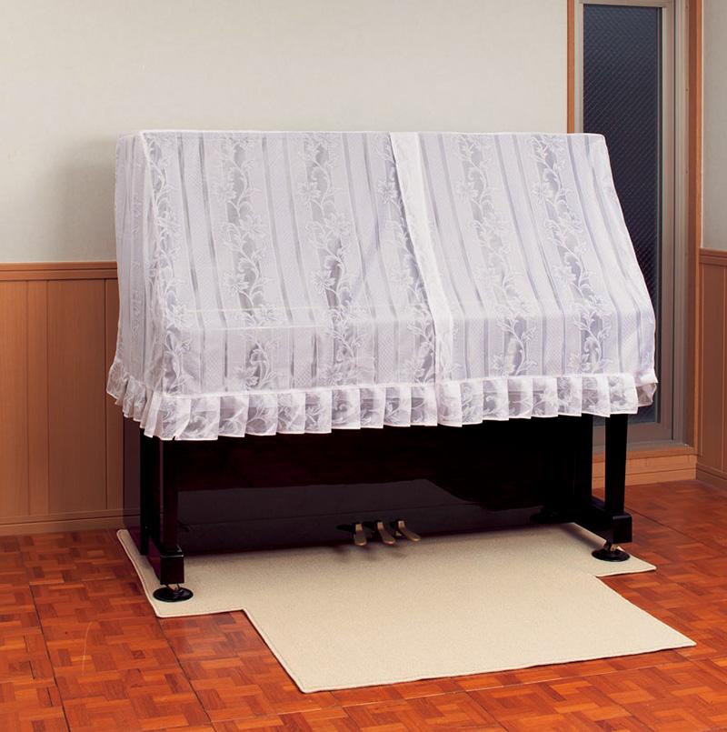 【its】ピアノ設置や椅子による床のキズ防止に!NEW!!ピアノカーペット(ベージュ&ダークブラウン)