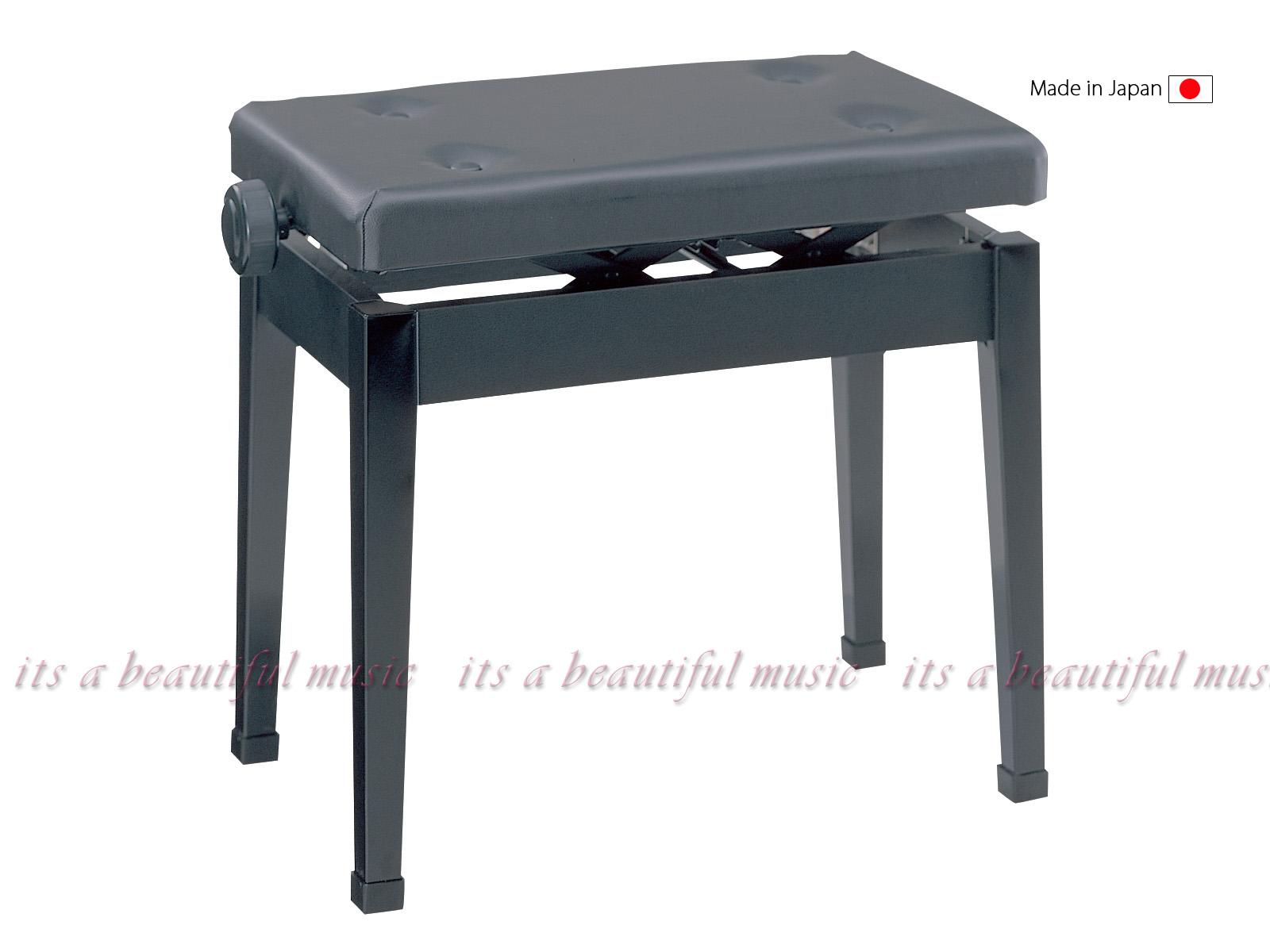 【its】軽量・シンプルで扱いやすいロングセラー品!日本製のピアノ椅子 甲南Konan K50-D(K50D)黒色