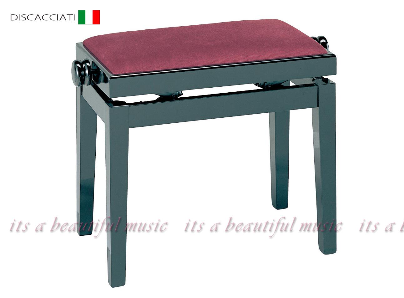【its】高級輸入ピアノ椅子・イタリアディスカチャーチ社No.105(黒色)