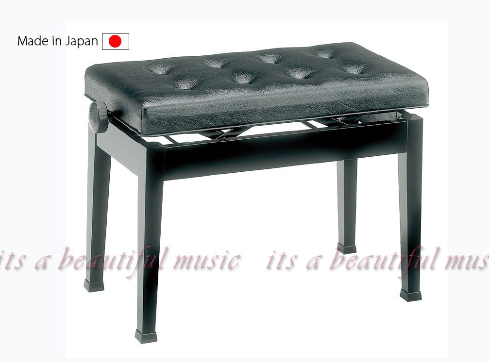 【its】日本製!ワイド65cm座面のピアノ椅子・甲南Konan V65-S(V65S)黒色