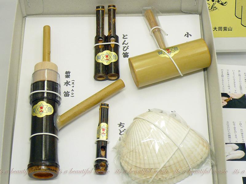 【its】演劇、歌舞伎、合奏、おゆうぎの効果音に!「擬音笛Cセット(5点)」