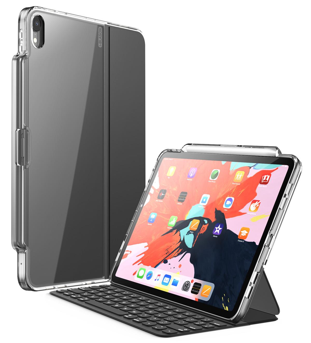 i-Blason iPadPro 11.0 12.9 インチ ケース 2018 第1世代 iPad Pro 第3世代 公式 folioとSmart クリア 薄型 お見舞い Pencil収納 keyword 軽量 Smart 併用 実物 folio 保護ケース Apple 黒