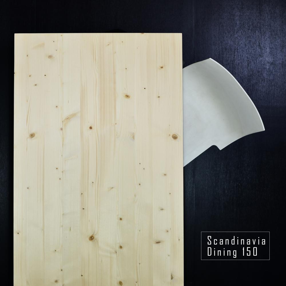 ダイニングテーブル デスク パイン材 150cm サイズオーダー可 天然木 木製 無垢材 無塗装 カフェテーブル 食卓テーブル 北欧 おしゃれ 国産 日本製 スカンジナビアテーブル