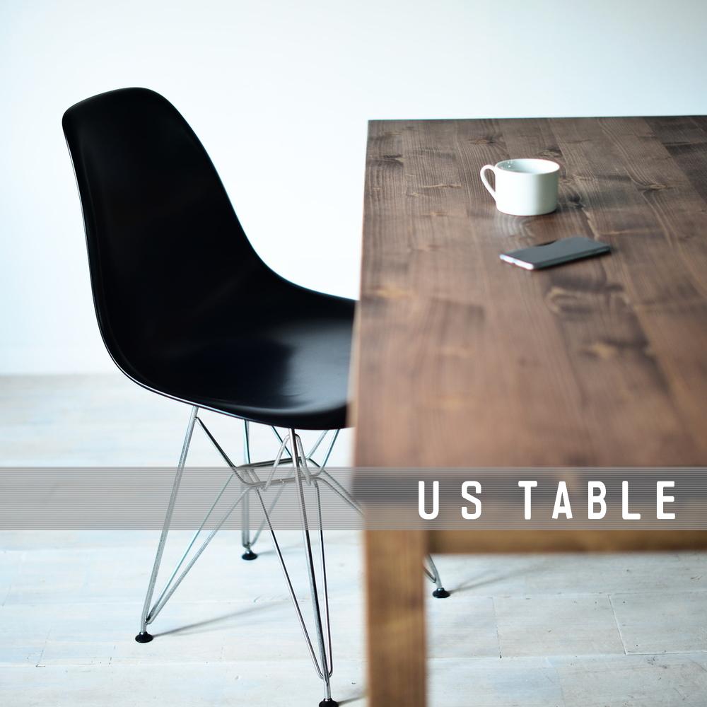 ダイニングテーブル パイン無垢材 インダストリアル アメリカ カリフォルニア スタイル サイズオーダー 木製 長机 カフェテーブル 食卓テーブル 120 130 140 150 160 170 180 おしゃれ 国産 日本製 USテーブル150