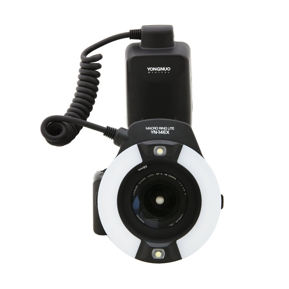 【【正規品 純正品 3ヶ月保証!!】 マクロリングライト  Macro Ring Light Canon EOS 7D/5D Mark II/5D Mark III/60D/650Dなど対応 自動保存機能/TTL機能付き YONGNUO YN-14EX ゆうパック発送のみ