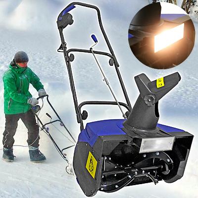 電動除雪機スノーブロワー 前方ライト付