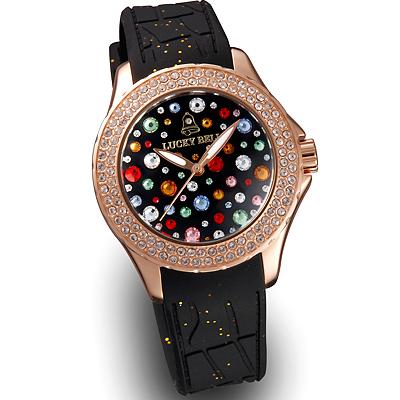 保障できる ラッキーベル スターリーヘブンズ イタリア腕時計 ピンクゴールド ブラック, カメラ用品メーカー直営店-Metrix- 84421f68