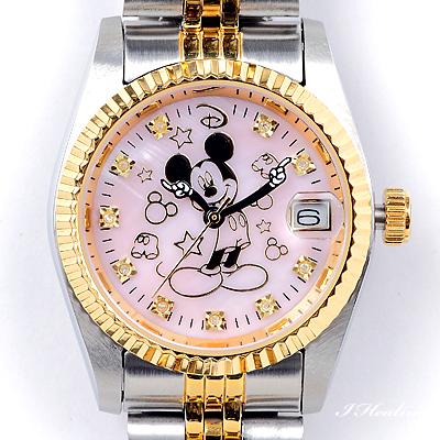 40%OFFの激安セール ミッキー時計ピンク ミッキー生誕85周年記念プレミアムウォッチ ミッキー時計85周年記念 通販 ピンク 天然ダイヤ10石ウォッチ