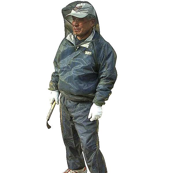 期間限定特価品 蚊 虫よけスーツ 米国バグバフラー社製 虫除け 虫除けスーツ 上下セット 洗濯可能 男女兼用 タイムセール フリーサイズ 米国バグバフラー社