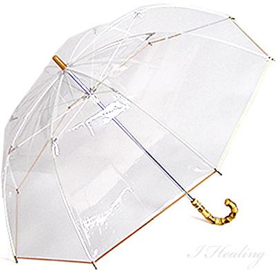 认为的尾巴经典伞长伞白玫瑰伞日本乙烯基