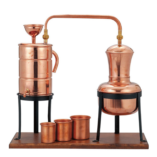 Alambic 1250 cc made in Italy with copper distilling equipment life tree ☆  benefits