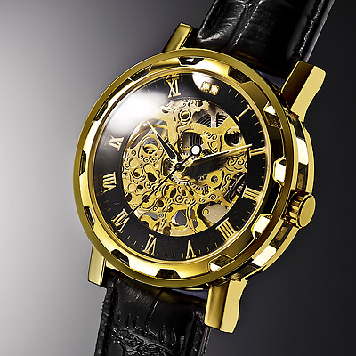 スイスの高級時計オムバーガーの最新モデル Hombergerオムバーガー クラシックダブルスケルトン 国内正規総代理店アイテム ゴールド 手巻き腕時計 オリジナル