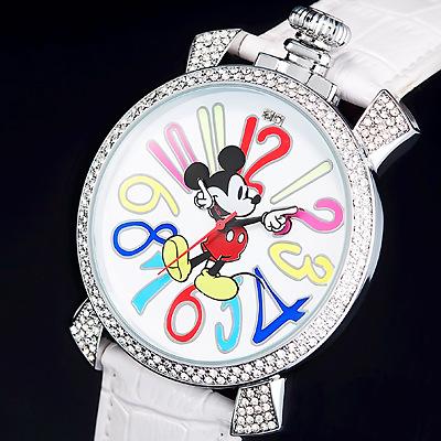 購買 Mickey 超歓迎された ミッキーマウス時計ホワイトバージョン ミッキー ファンタジーカラー腕時計 ホワイト