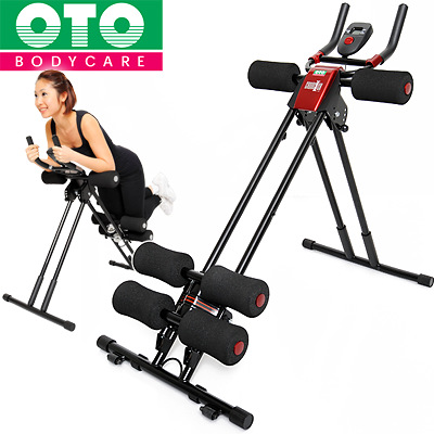 Mat with fitness machines OTO Cruncher red OT clincher