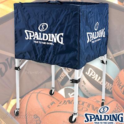 スポルディング ボールカート ナイロン 折りたたみ式 バスケットボール15個入れボールカゴ ネイビー SPALDING63-763Z