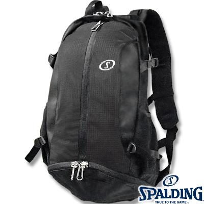 SPALDINGケイジャー ブラック チーム バスケットボールバッグ バスケカバン 黒リュック スポルディング40-007SV02