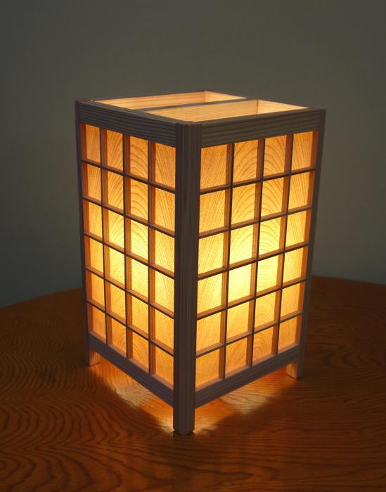 ADTP-1670 角行灯「匠」 Mサイズ 桜ツキ板(格子組子)