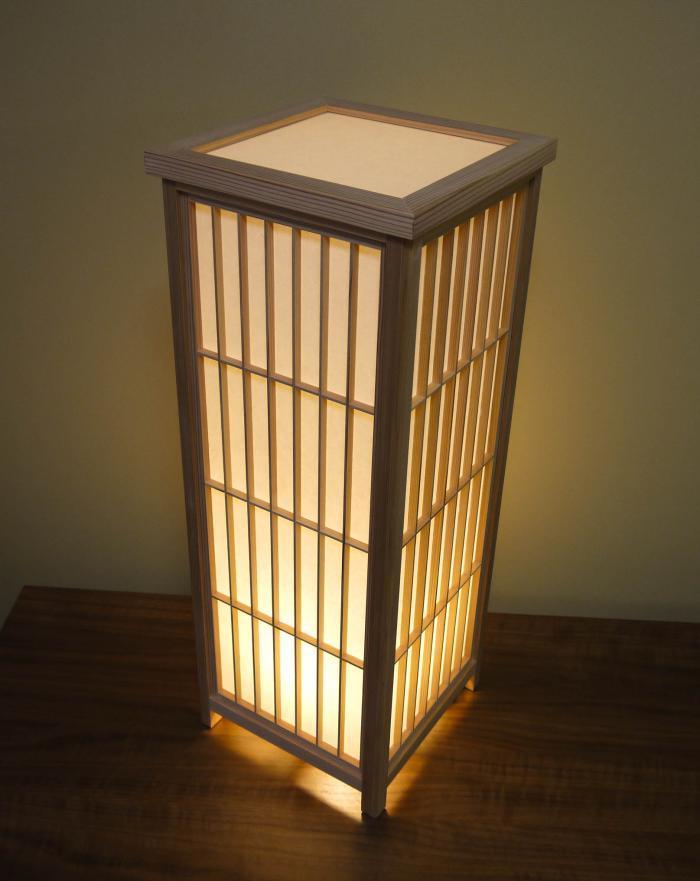 ADKM-720 組子行灯 「極」 LLサイズ 手漉き楮和紙                 (無地未晒し)/国産杉材