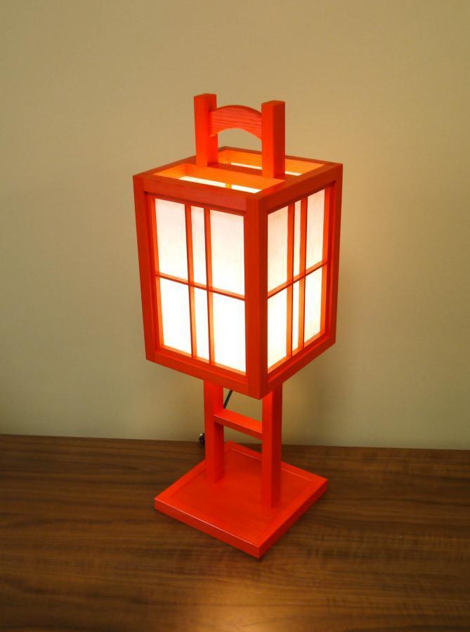 ADKM-731 置行灯「極」吹寄せデザイン(朱) Lサイズ 手漉き楮和紙無地
