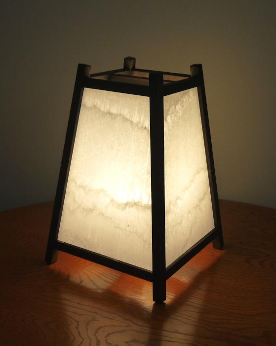 ADDP-501手作り行灯「雅」Mサイズ 名尾和紙使用 手漉き楮和紙 さざなみ