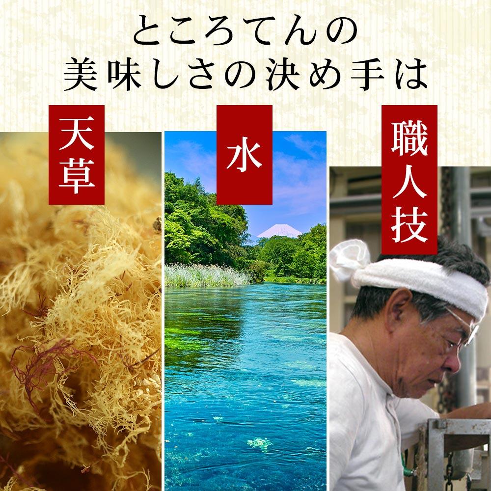 柿田川名水ところてん 9食 9人前 プラスチック突き棒付 ところてん突き つき ところてんの原料は天草 お取り寄せ心太 ところてんセット 伊豆ところてん トコロテン  asu