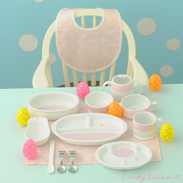 Kitchen 13 point set 511924 Candy Ribbon candy ribbons for first time / baby dish set weaning diet Dinnerware set made in Japan / friends and colleagues ...  sc 1 st  Rakuten & I love baby | Rakuten Global Market: Kitchen 13 point set 511924 ...