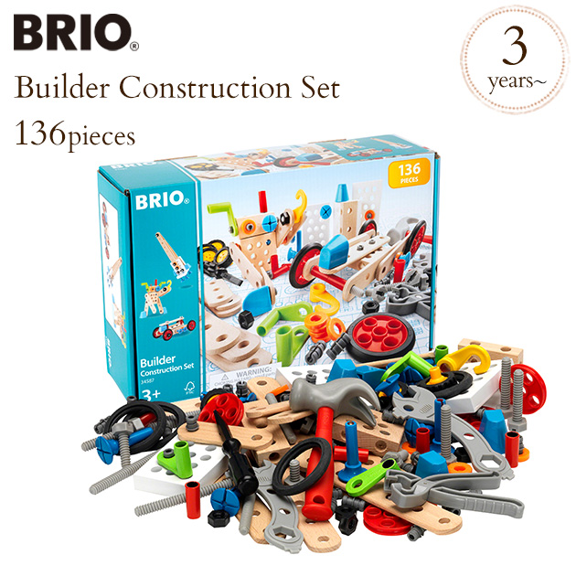 Toy Wooden Toy Wood Toy Assembling Kit Construction Kit Block Work Cognitive Education Build Play Of Brio ブリオビルダーコンストラクションセット 34587 Brio