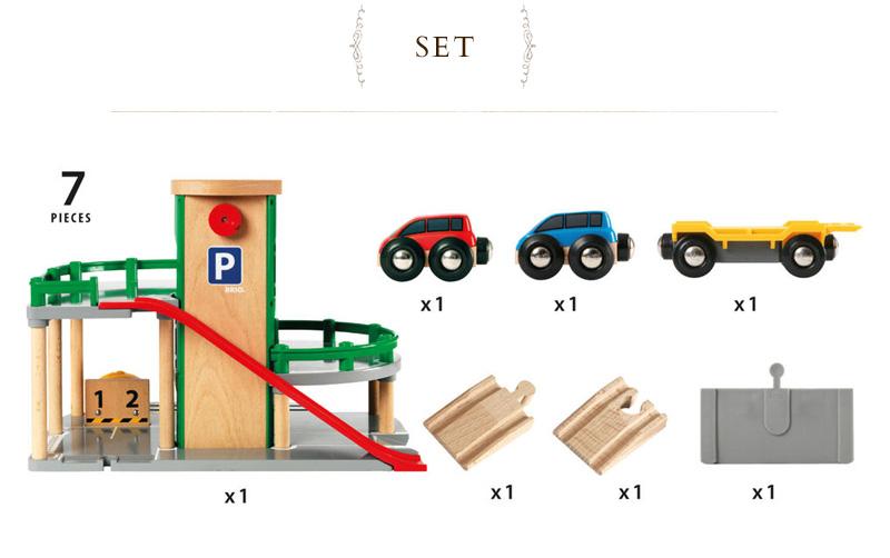 Brio 停车库 33204 BRIO 铁路玩具木玩具木制玩具,木制玩具 / 木制玩具 /