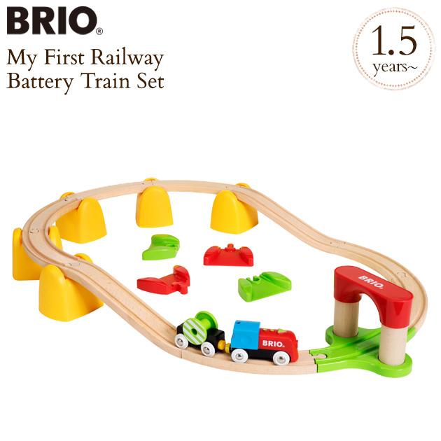 BRIO ブリオ マイファーストバッテリーパワーレールセット 33710 木のおもちゃ 木製玩具 列車 電車 貨車 【送料無料】