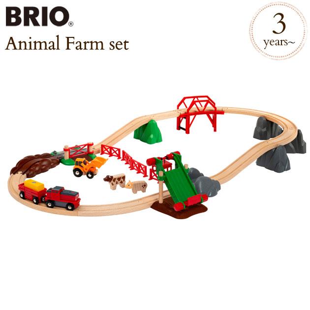 \ラッピング無料/ BRIO ブリオ アニマルファーム セット 33984 木のおもちゃ 木製玩具 ウッドトイ 知育玩具 知育トイ 電車 汽車 機関車