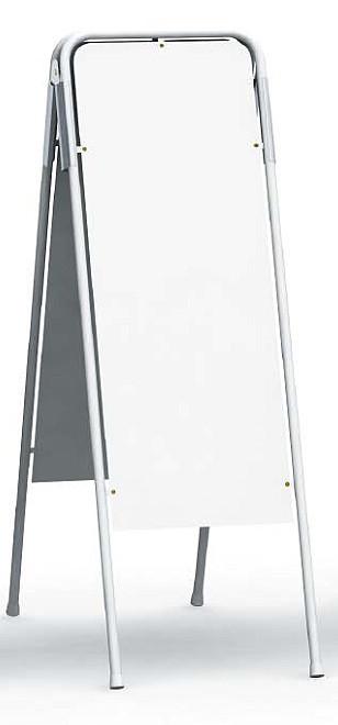 キュートI45M(オーダーメイド/印刷料込み/施工料込み/送料無料/スタンド看板/立て看板/スタンドサイン/店舗用/屋内/屋外/おしゃれ/オープン/クローズ/両面/アイキャッチ効果/ローコスト/スチール製A型サイン/商業サイン/使いやすい)