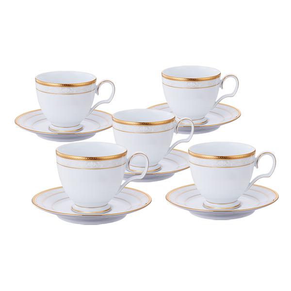 ノリタケ 食器 ハンプシャーゴールド ティー・コーヒー碗皿5客セット