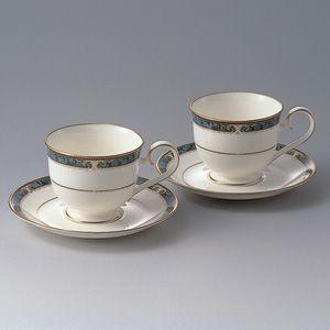 ノリタケ 食器 エセックスコート コーヒー碗皿ペア