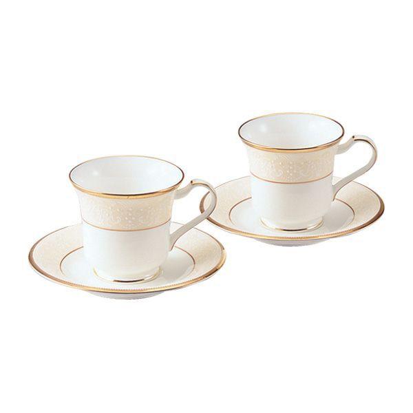 ノリタケ食器 【WHITE PALACE】ホワイトパレス アメリカン碗皿ペアセット