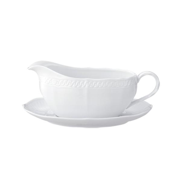 ノリタケ食器 【cher blanc】シェール ブラン グレービーボート&ソーサー