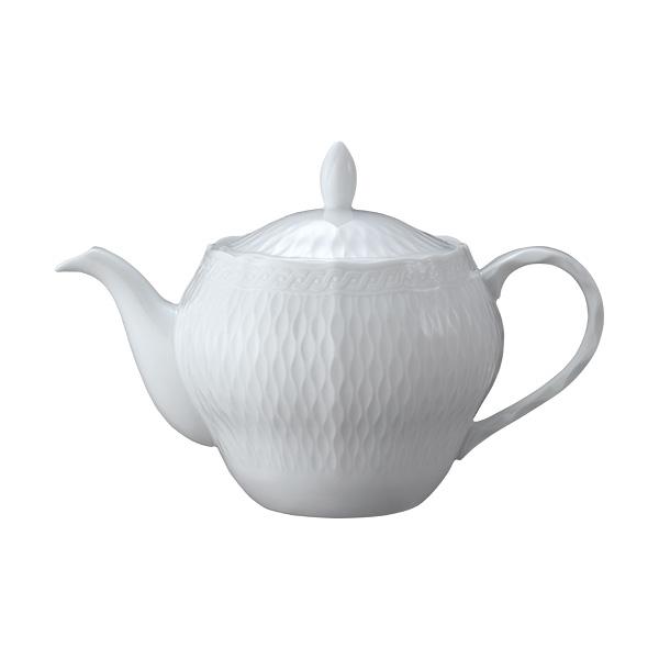 ノリタケ食器 【cher blanc】シェール ブラン ティーポット(大)