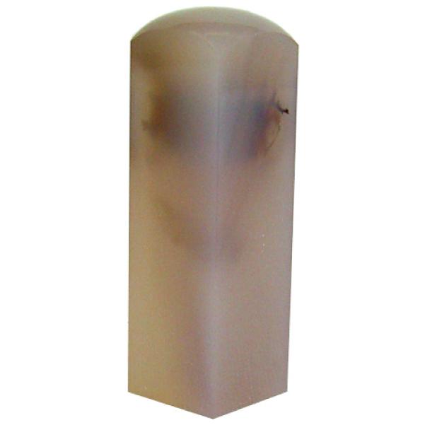 【全国送料無料】天然貴石で作る趣味の印 「白メノー落款印24mm角」