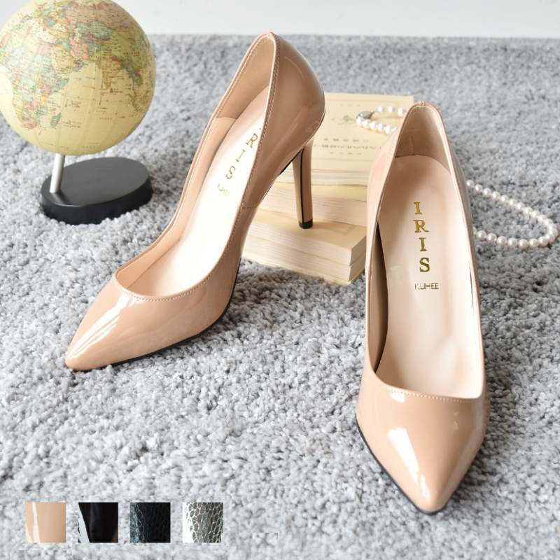 5d62d242cdf1 probably not high-heeled shoes beige black silver party wedding 11 cm heel  storm pumps women s shoes tomorrow 10 cm heel enamel pointy toe pumps  walkable ...