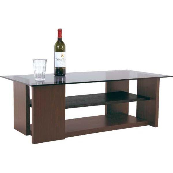 テーブル「SO-100BR」 8mm強化ガラスのセンターテーブル ガラステーブル 【送料無料】 棚付き ガラス テーブル ガラステーブル センターテーブル リビングテーブル コーヒーテーブル ガラス テーブル ガラステーブル テーブル ローテーブル