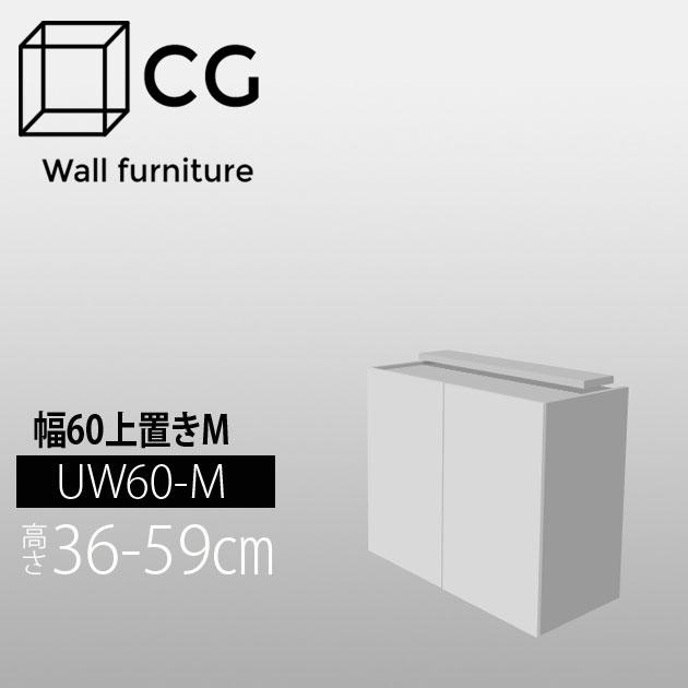 壁面収納家具CG 上置き-幅60 UW60-H36-59【受注生産品】【代引不可】