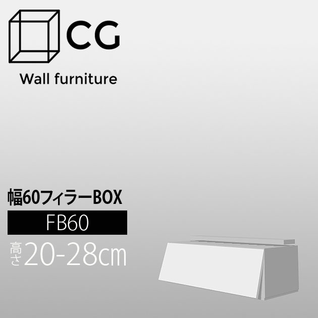 【P10倍★13日10:00~15日23:59】壁面収納家具CG フィラーボックス-幅60 FB60【受注生産品】【代引不可】