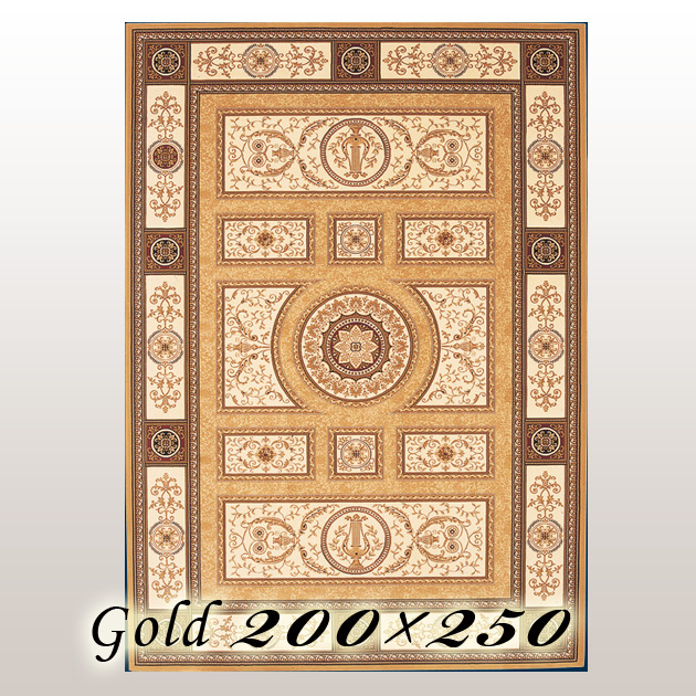 ラグ カーペット プラチド Placido ベルギー ウイルトン織 ゴールド 200×250cm