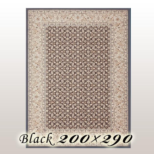 ラグ カーペット レーモ Remo ベルギー ウイルトン織 ブラック 200×290cm
