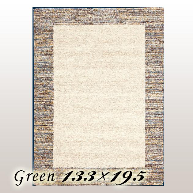 ラグ カーペット ミエス Mies ベルギー ウイルトン織 グリーン 133×195cm