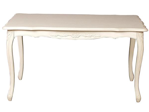 【送料無料】SA-C-1174-W3-135 ダイニングテーブル 白色 ホワイト 輸入家具 Fioreフィオーレシリーズ 猫脚 ラグジュアリー ロココ ヨーロピアン 家具 ヨーロピアン アンティーク クラシック