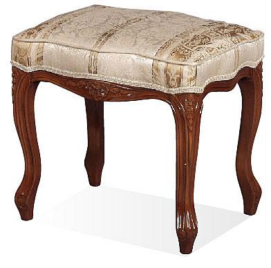 【送料無料】SA-C-1470-B4 スツール 椅子 チェアー 茶色 ブラウン輸入家具 Fioreフィオーレシリーズ 猫脚 ラグジュアリー ロココ ヨーロピアン 家具 ヨーロピアン アンティーク クラシック