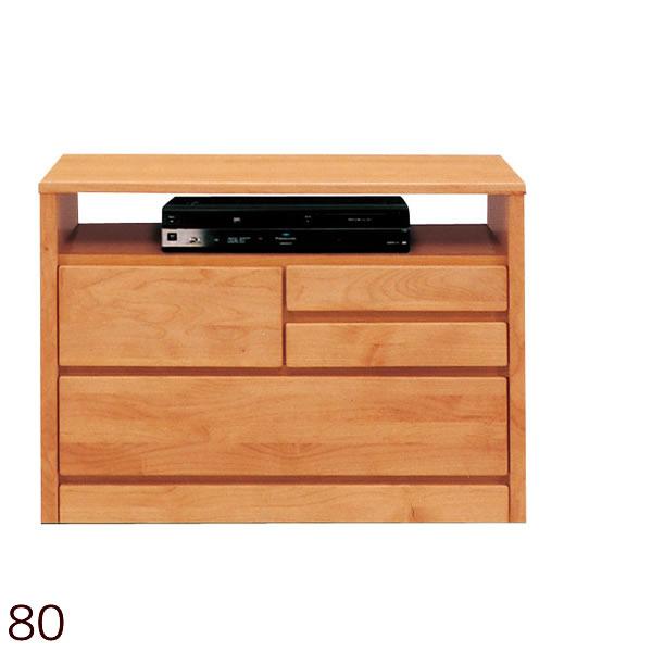 ティアラAV80-2AVチェスト リビングチェスト リビングボード サイドボード サイドチェスト テレビ台 ハイタイプ 木製 アルダー材使用 日本製 国産 引き出し付き おしゃれ テレビボード TVボード TV台 AVボード テレビ収納 収納家具 北欧