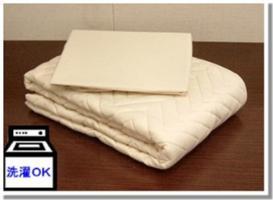 【送料無料】洗えるウォッシャブルベットパット&シーツ 2点パック ダブル 寝具 ベッドカバー(ベッドスプレッド)